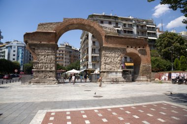 Greece, Thessaloniki. The ruins of the Roman Emperor Galerius arch (IV c.)