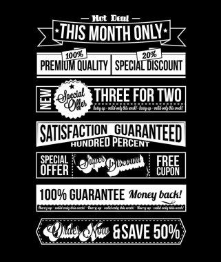 Set of Retro Vintage Typographic Business Banner