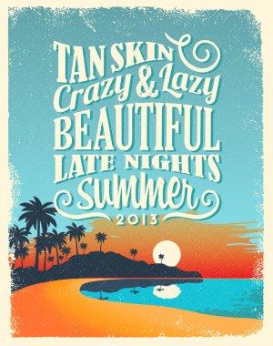 Retro Vintage Summer Poster