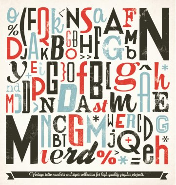 Various Retro Vintage Typography Collection