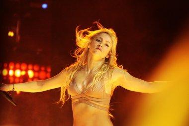 MINSK, BELARUS - MAY 20: Shakira performs at Minsk-Arena on May 20, 2010 in Minsk, Belarus.