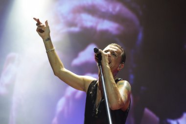 Depeche Mode in concert at the Minsk Arena on Friday, February 28, 2014 in Minsk, Belarus