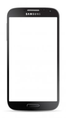 Vector image of new Samsung galaxy with blank screen. clip art vector