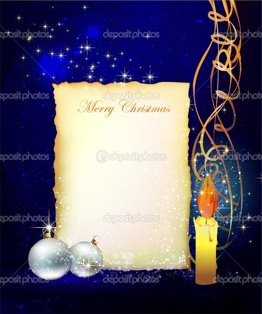 Weihnachten Hintergrund Mit Briefvorlage Für Ihren Text
