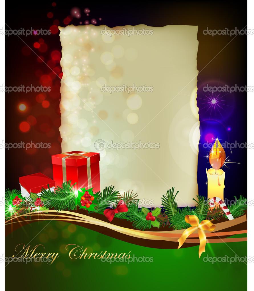 Weihnachten Hintergrund Mit Briefvorlage Stockvektor Irstone
