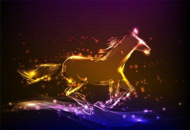Neon horse