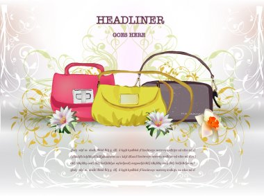 Background with lady's bag