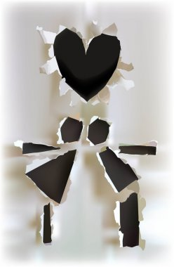 Ripped paper collection Couple in love, Dating