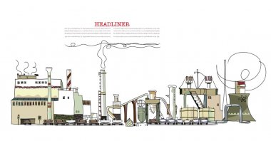 Industrial view City collection