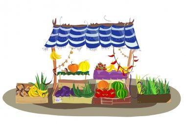 Fruit and Veg shop on the city street