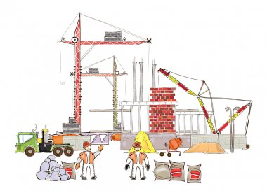 City is going to be bigger, Building site,