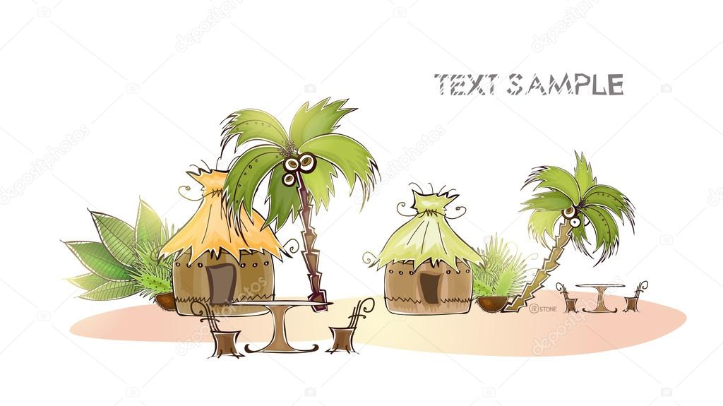 Vacation in jungle, travel and holiday concept,