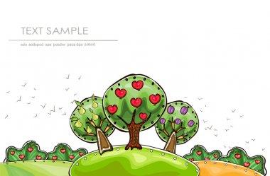 Organic farm, Harvest time illustration