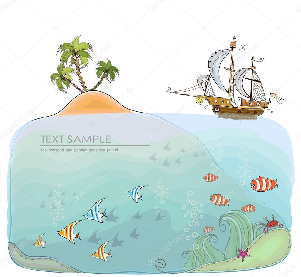 Under the sea, beautiful nature of the ocean. Travel concept,