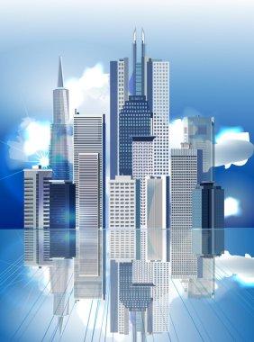 Modern city illustration, City collection