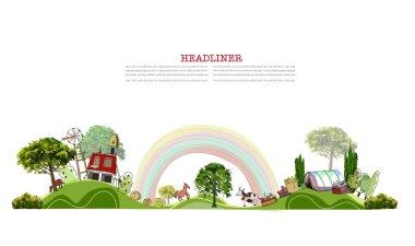 Organic farm Illustration stock vector