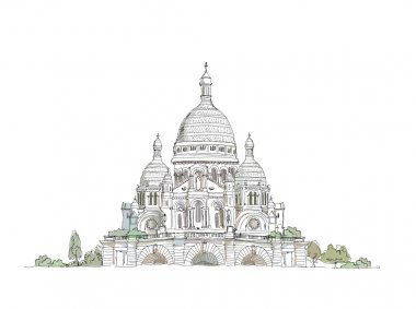 Paris,  sketch collection,  Sacred Heart in Montmartre,