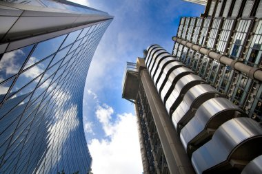 LONDON, UK - APRIL 24, 2014: Modern architecture City of London, Lloyd's bank