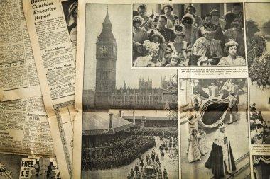 Vintage newspaper background