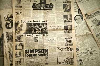 Vintage newspaper background