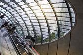 London, Egyesült Királyság - július 24-én 2014-re: london cső, a canary wharf állomás, a legforgalmasabb station-ban Londonban, hogy 100 000 irodai dolgozók nap mint nap