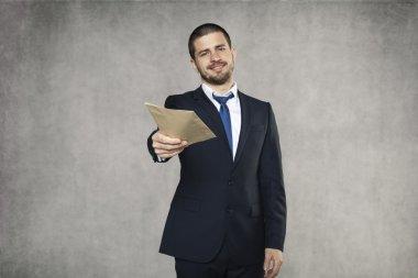 Businessman give a bribe
