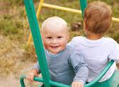 Fotografie two little cute boy playing