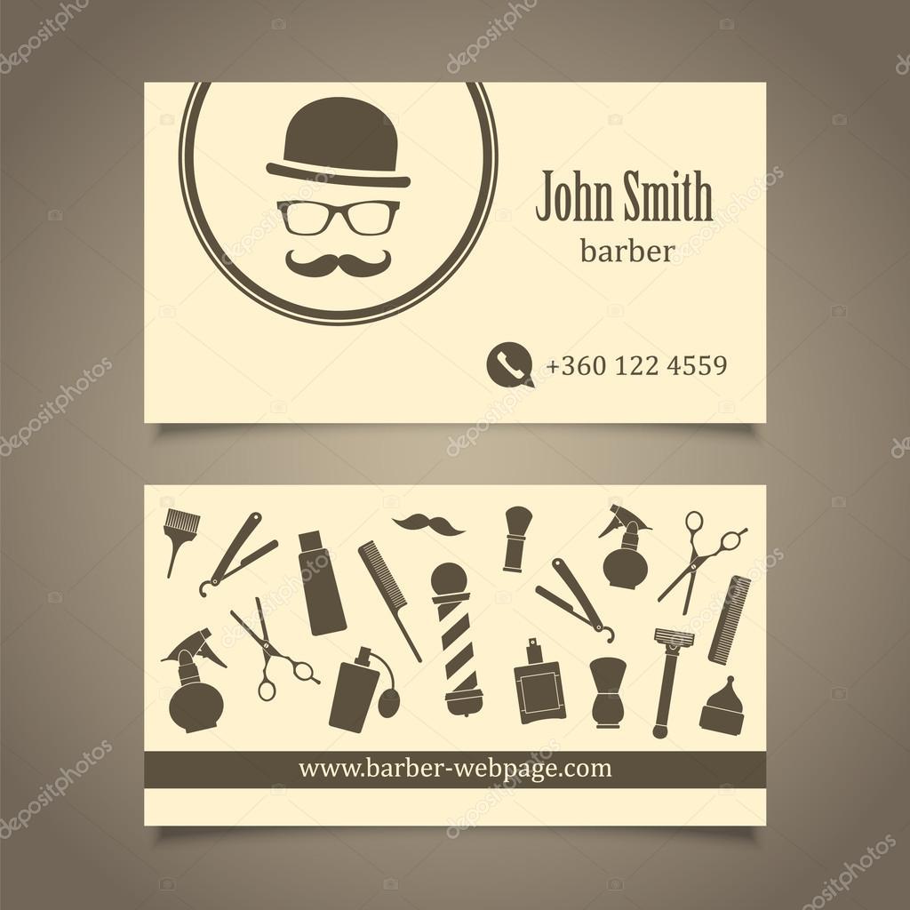 Plantilla de diseño de tarjeta de visita de pelo salón peluquería ...