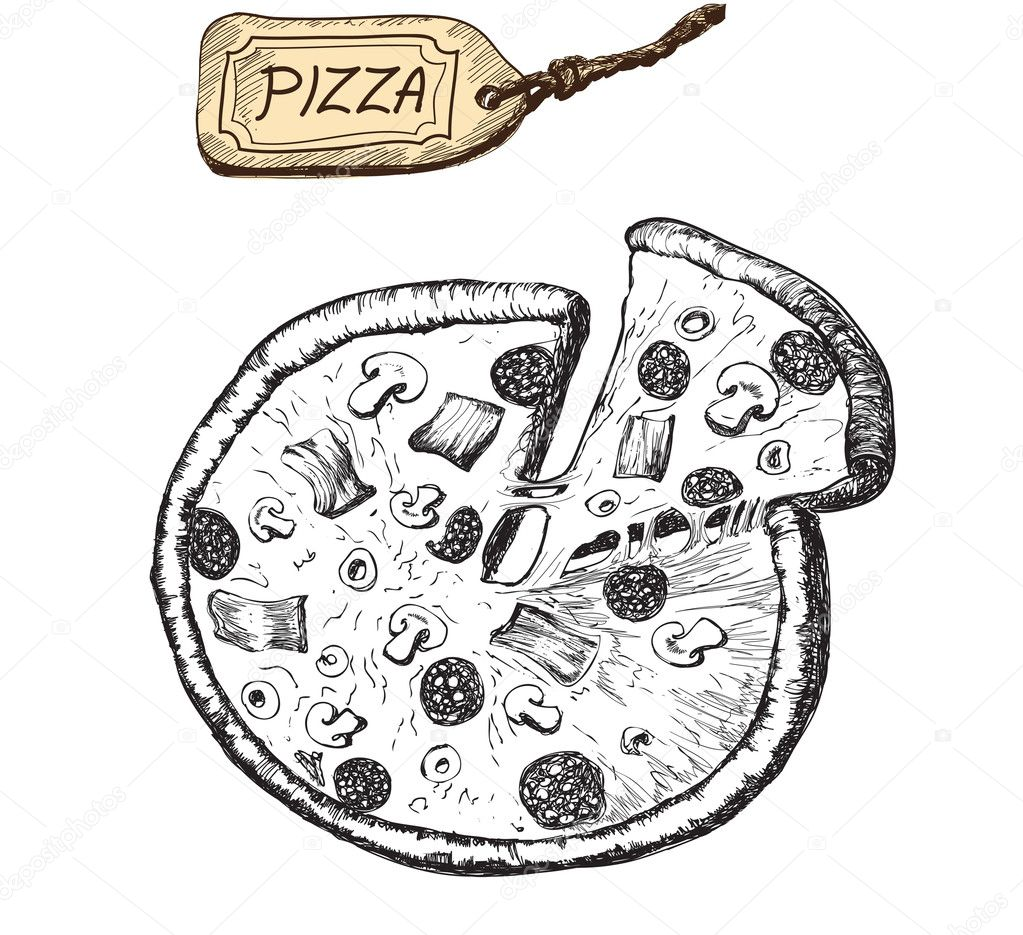 Llustration of pizza