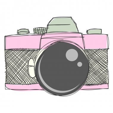 Hand drawn Camera Clipart and Vector Files