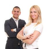obchodní muž a žena