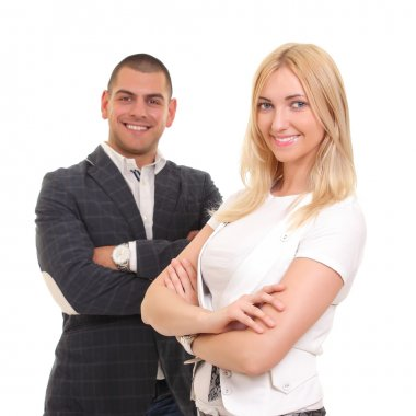 A business man and woman