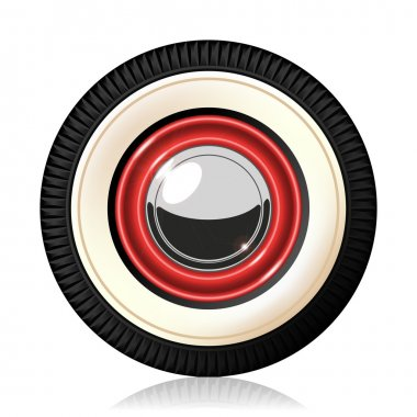 Retro car wheel.