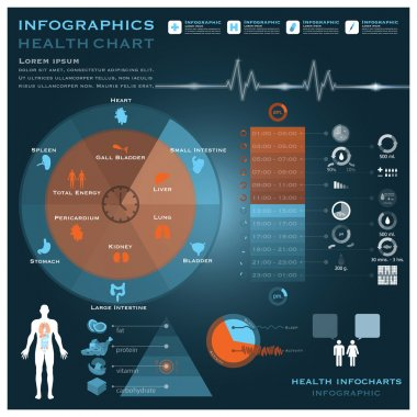 Biological Clock Health And Medical Infographic Infocharts