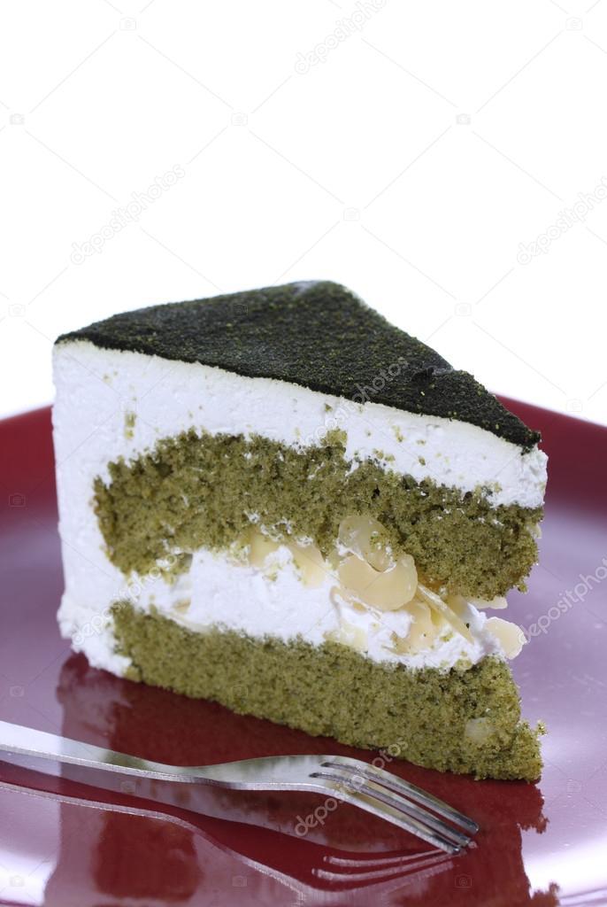 Japanischer Matcha Grun Tee Kuchen Stockfoto C Jeffy1139 36941647