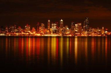 Seattle Skyline Reflected