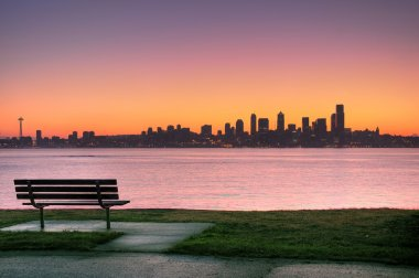 Seattle sunrise from Alki Park