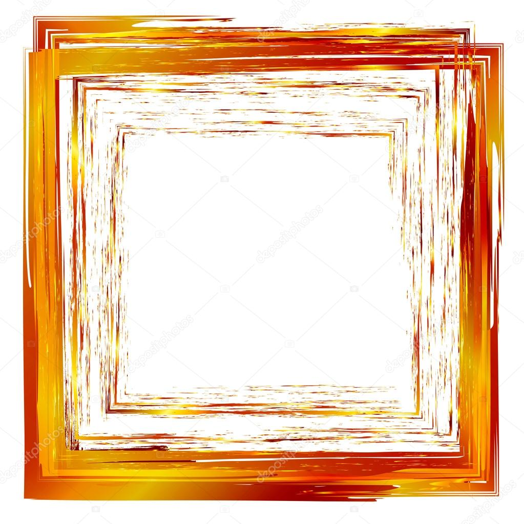 gold abstract vector design element square frame painted with b stock vector 38752943