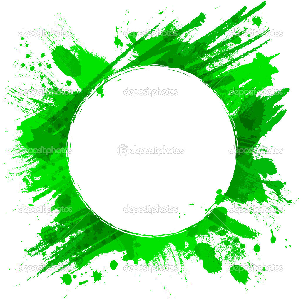 green vector background with brush strokes and splashes stock rh depositphotos com brush vector free brush vectoriel illustrator