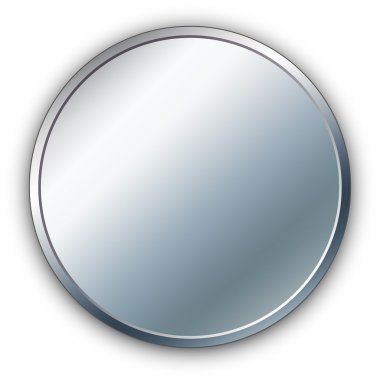 Round silver vector medal.