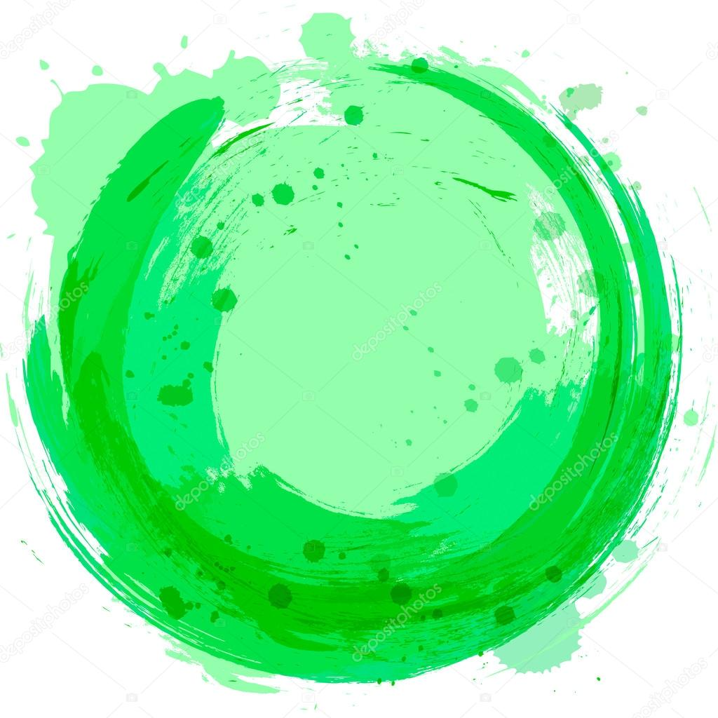 Vector green background. Abstract design element. Splashes of pa