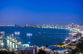 Photo Pattaya City and Sea in Twilight, Thailand