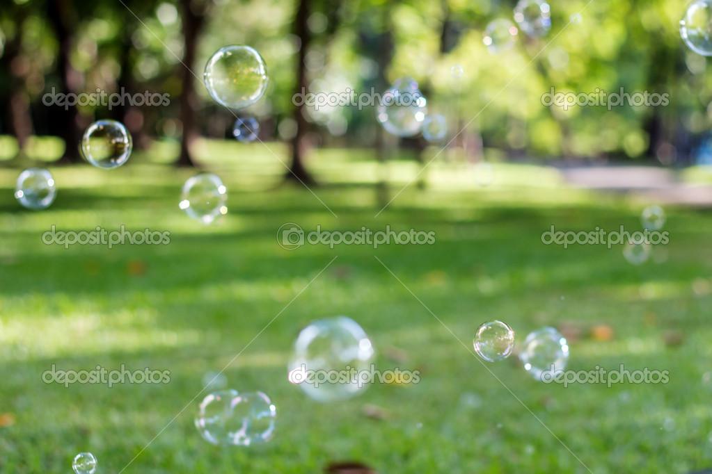 Bubble In Garden Background Stock Photo C Thekaikoroez 46824251