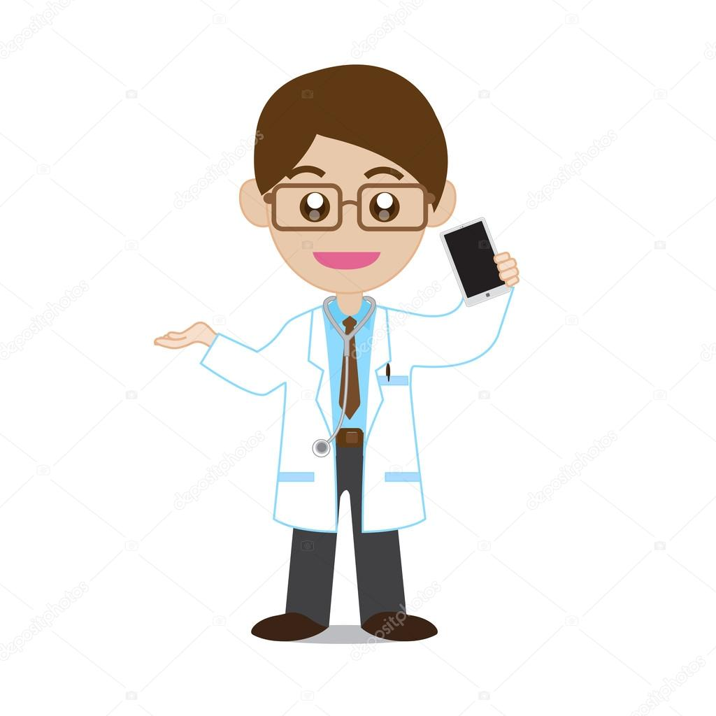 Doctor Showing Smartphone