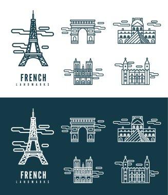 France Landmarks.