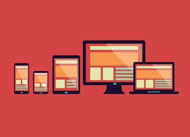 Responsive web design in electronic devices.