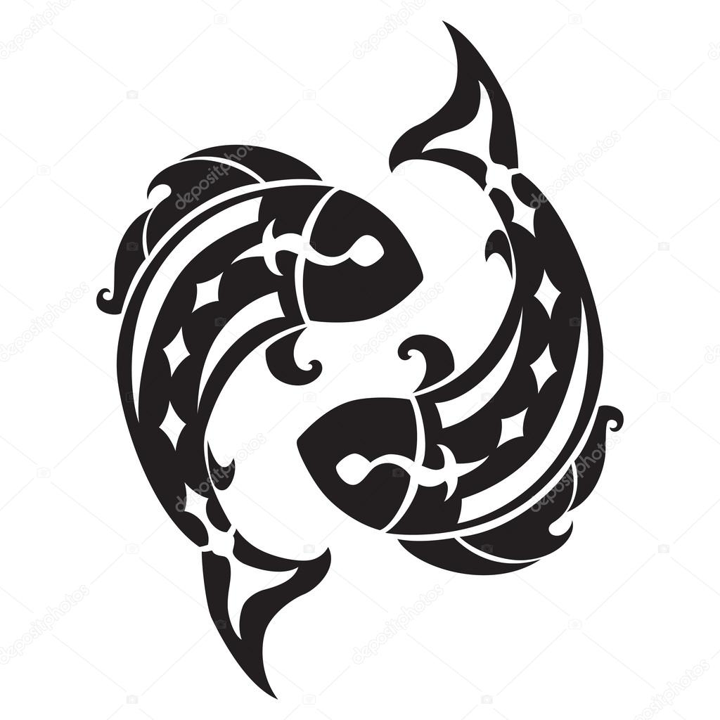 Pisces Zodiac Sign Stock Vector Jenavelour 45834655