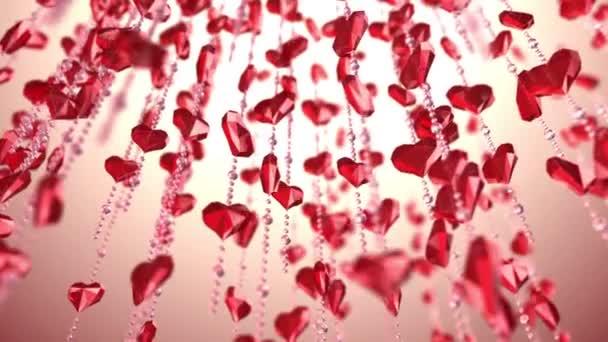 řetěz s červeným srdcem