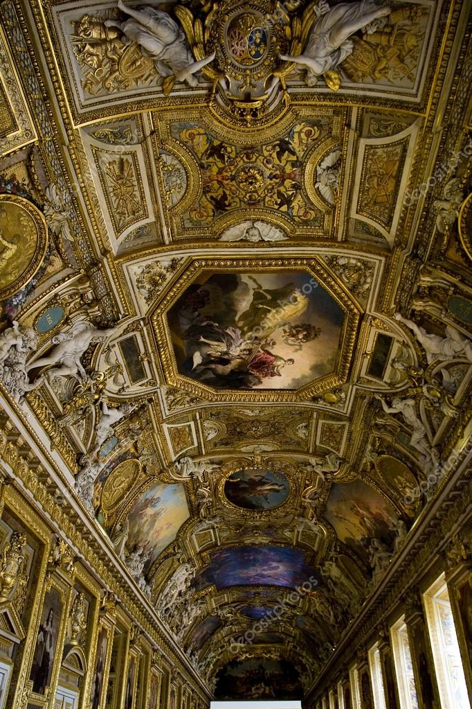 Painting On A Ceiling At The Louvre Museum In Paris Stock Editorial Photo C Davidewingphoto 37267069