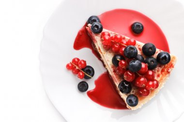 Cheese cake New-York with berries